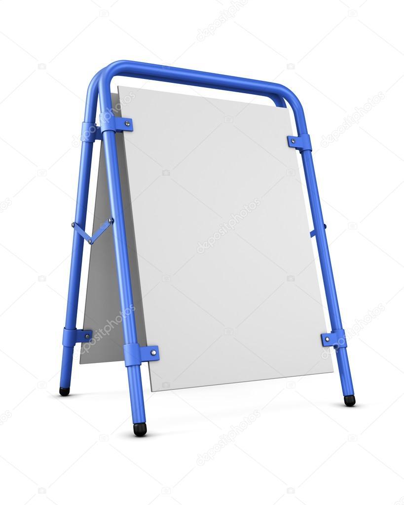 blank template sandwich board blank for copy space 3d renderin