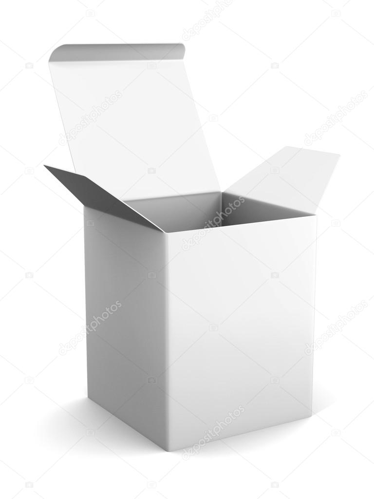 Blank Open Cardboard Box Template Standing On White Background Mock Up For Your Design 3d Rendering Photo By Rexi