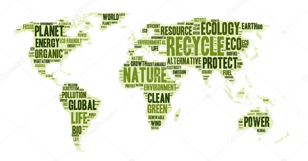 World map made of eco words archivo imgenes vectoriales pyty word cloud in a shape of world map eco theme vector illustration vector de pyty gumiabroncs Image collections