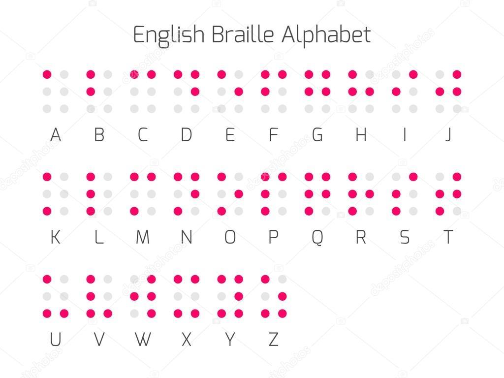 Connu de l'alphabet Braille anglais — Image vectorielle #99530620 GD03