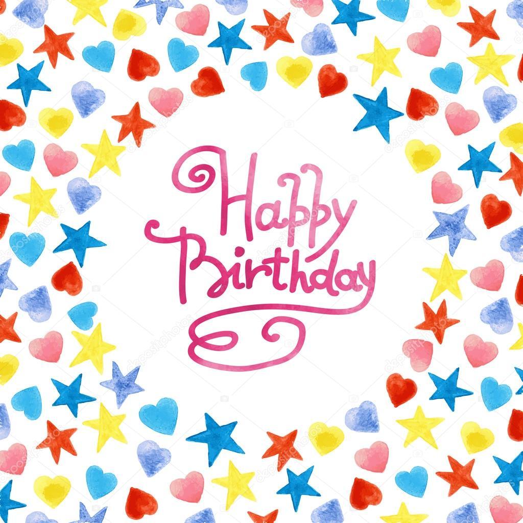 Happy Birthday frame — Stock Vector © JalloM #58300597