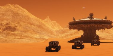 Mars Planet Outpost