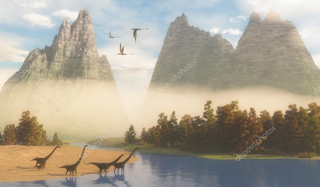 Jurassic Mamenchisaurus Habitat