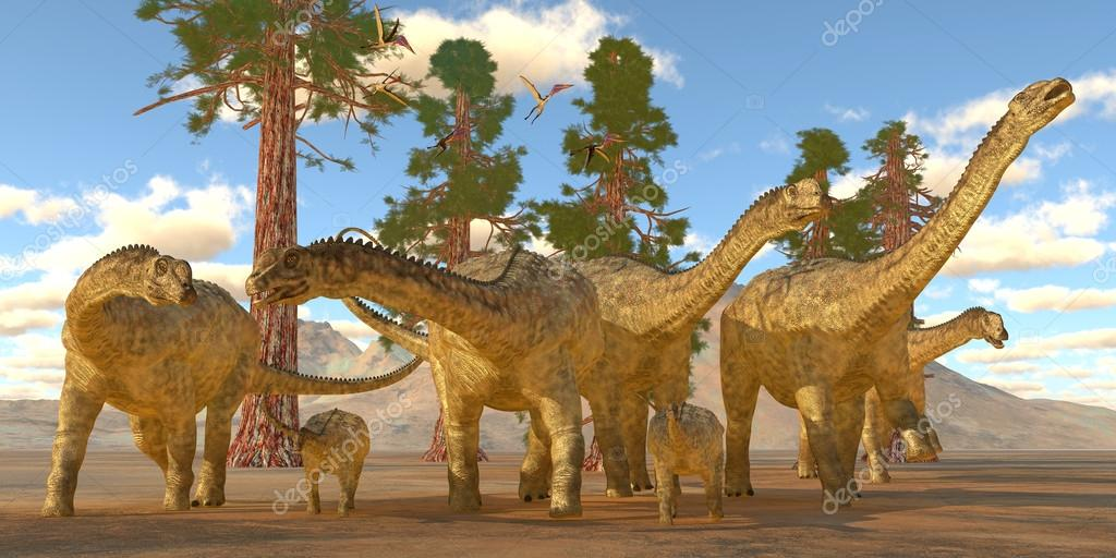 Cretaceous Uberabatitan Dinosaurs