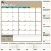 Anglický kalendář 2017