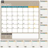 Španělská kalendáře 2017