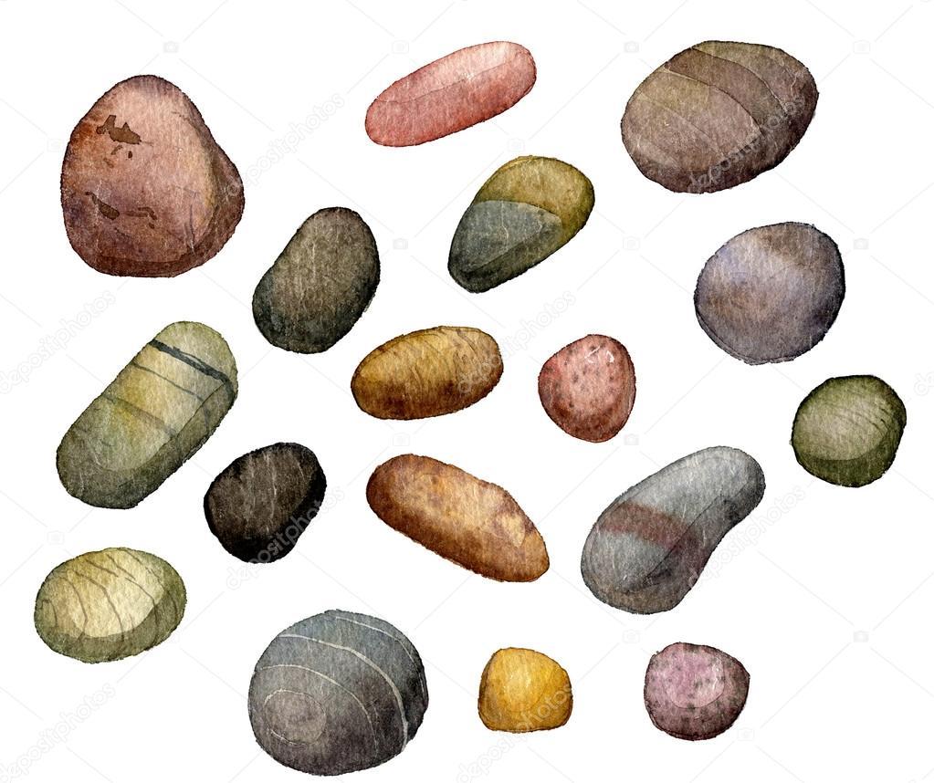 Piedras de mar dibujo en acuarela fotos de stock cat - Dibujos de piedras ...
