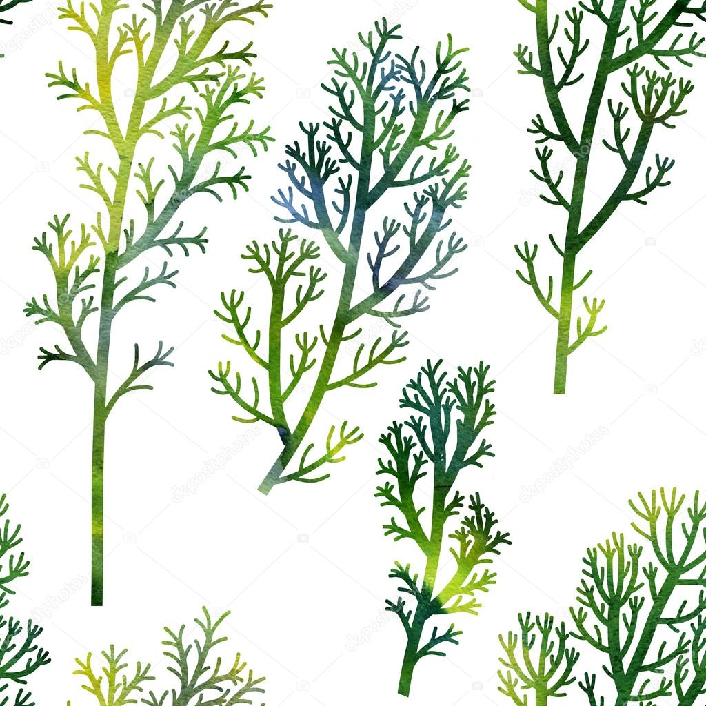 floral seamless pattern plants and leaves