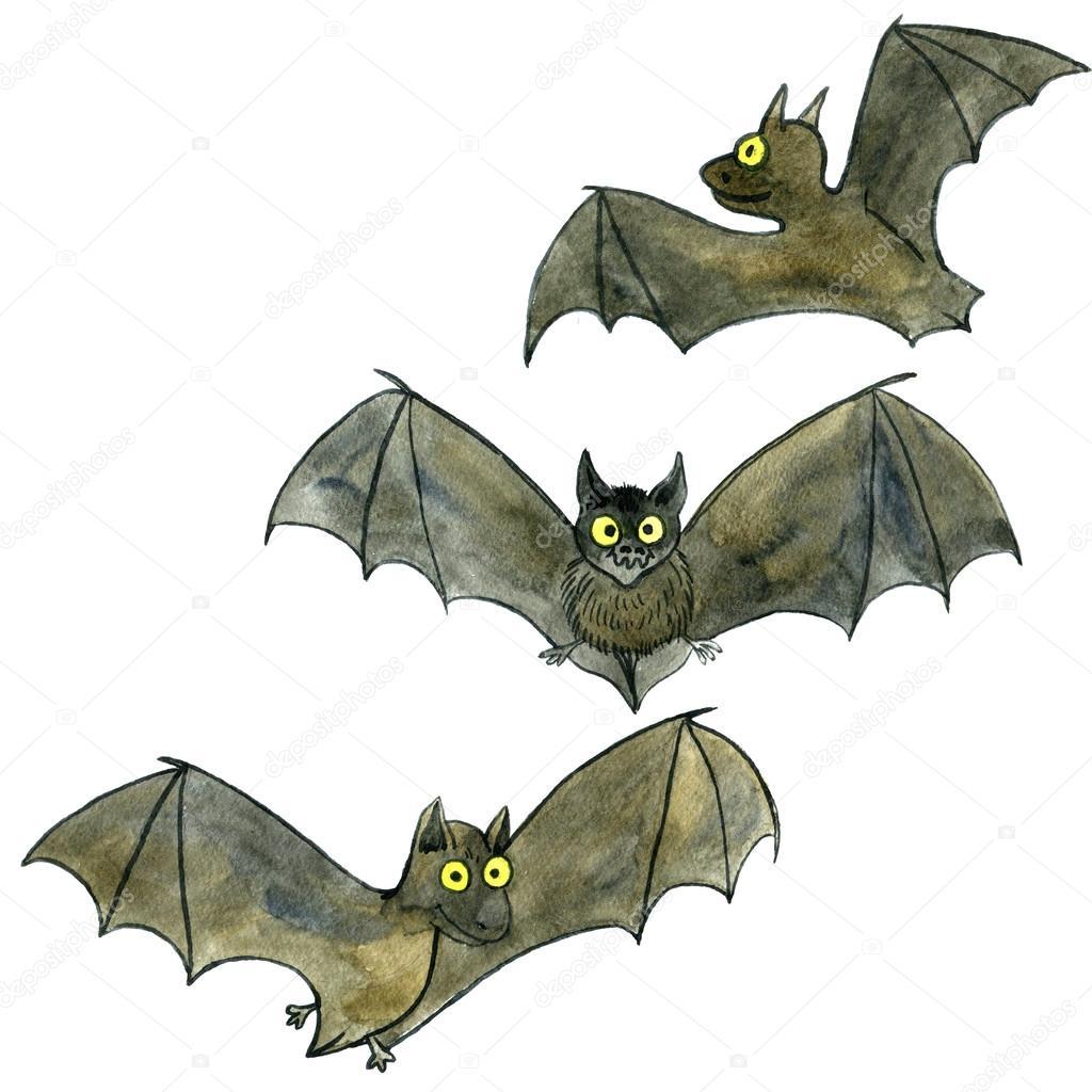 morcegos de desenho aquarela stock photo cat arch angel 120199260