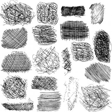 vector set of ink lines