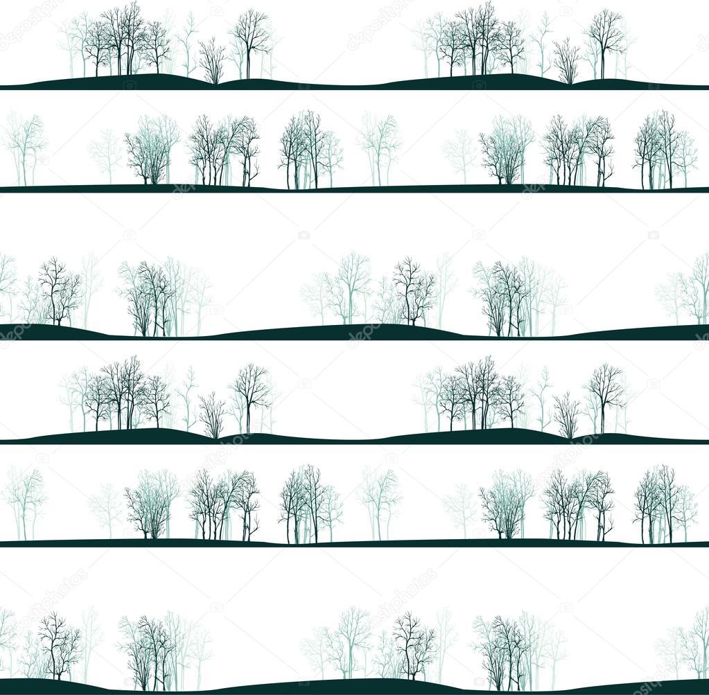 patrón sin costuras Vector con árboles de invierno — Vector de stock ...