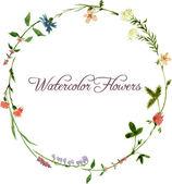 vektorové akvarel květinový rámeček