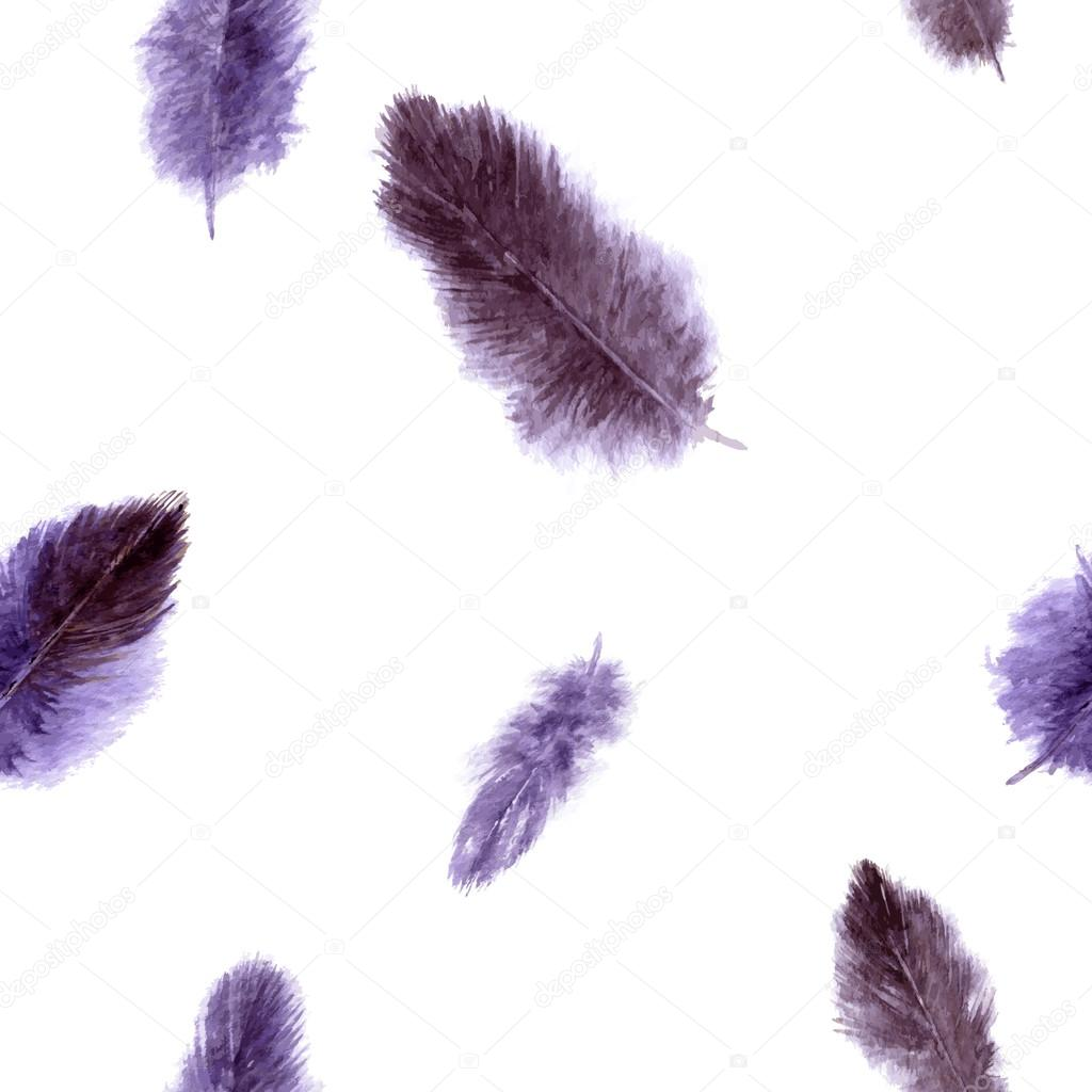 seamless pattern with violet plumes