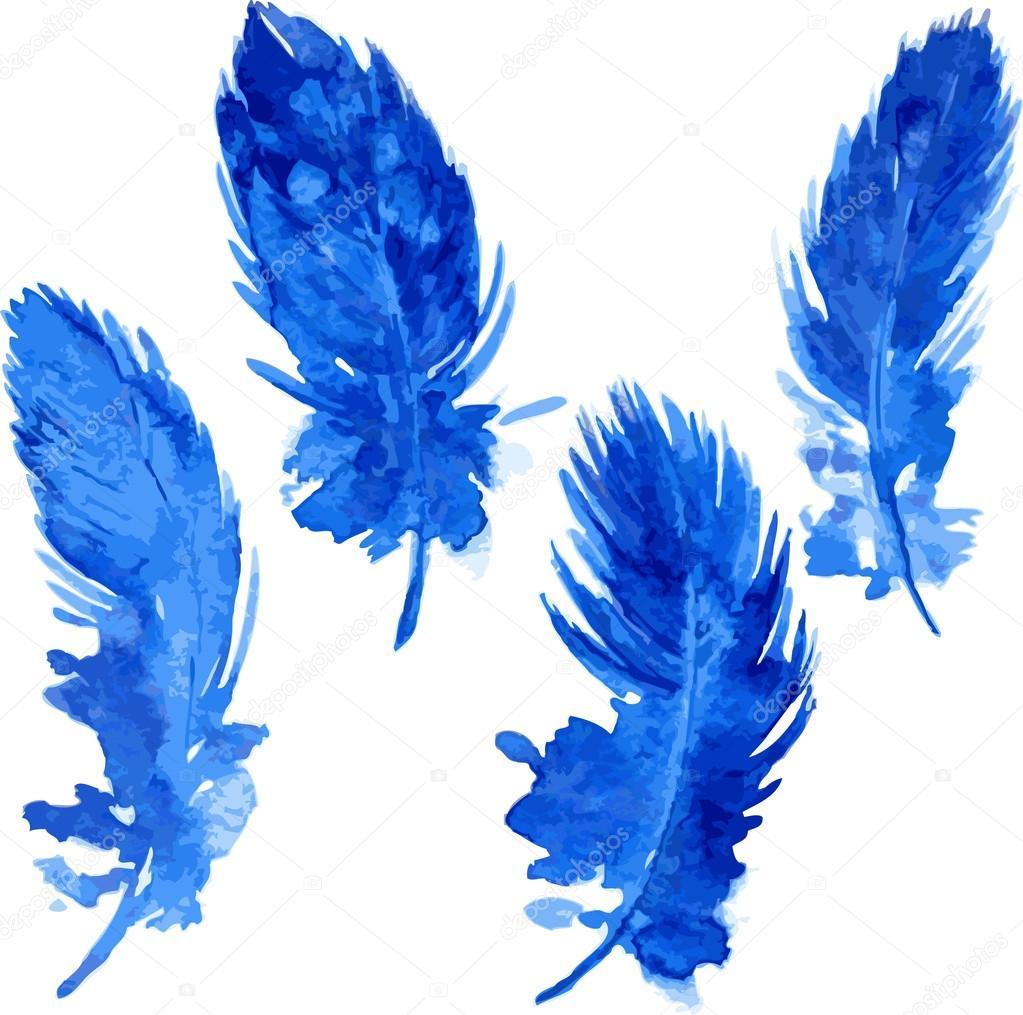 set of violet plumes