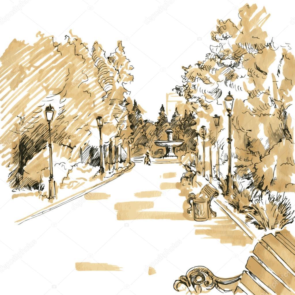 walkway of park