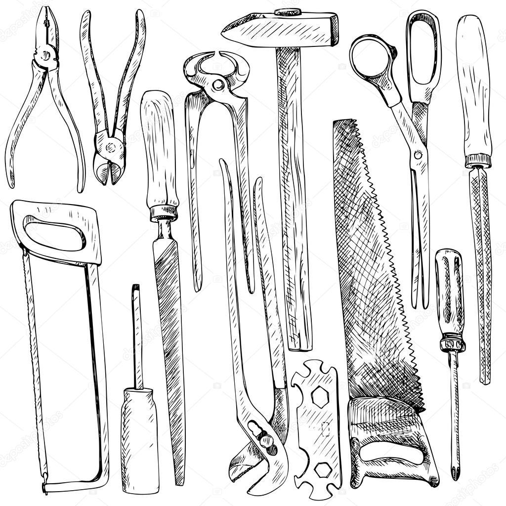 Hand drawn tool kit