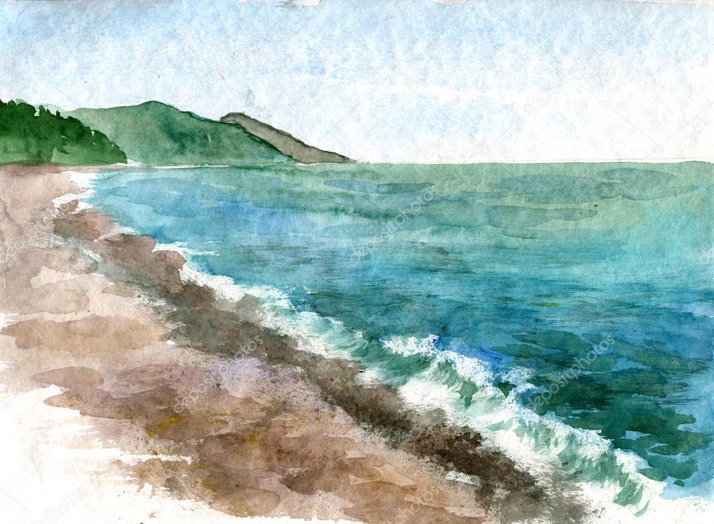 Как нарисовать своими руками картинку черного моря, букет роз для