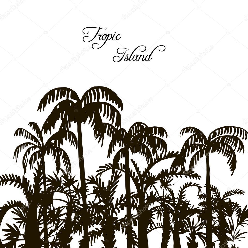 Plantillas De Arboles Para Tatuajes Selva Siluetas De árbol De