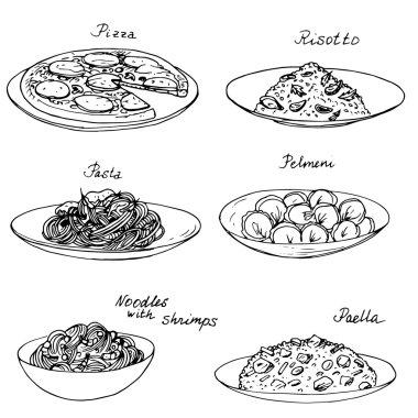 National dishes set
