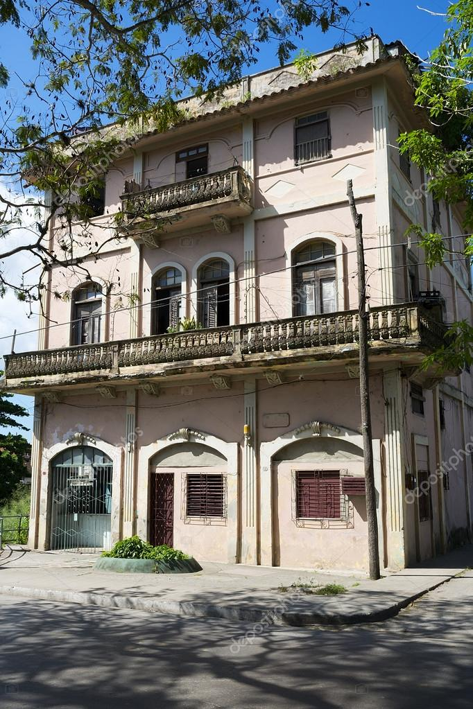 Awesome Facade Of A Traditional Cuban House, Example Of A Colonial Architecture U2014  Stock Photo