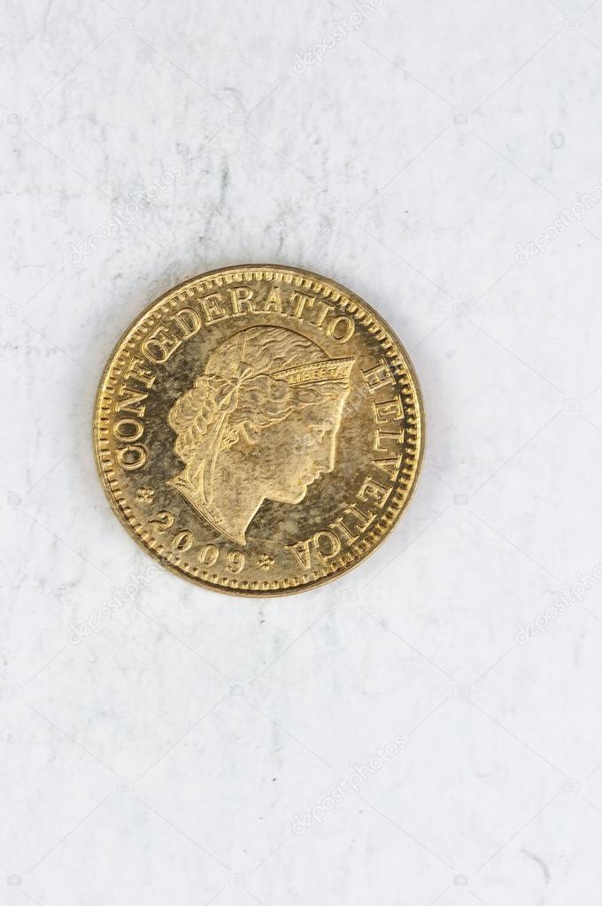 5 Schweiz Confoederatio Helvetica Münze Silber Stockfoto