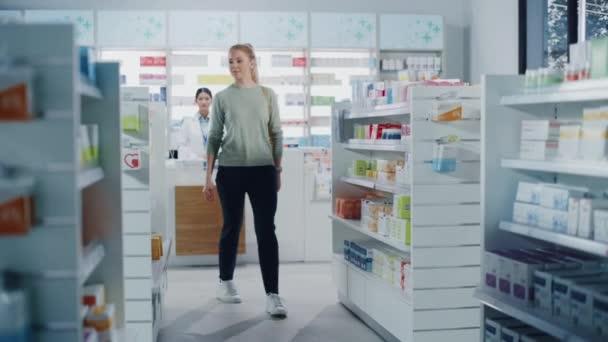 Female Customer in Pharmacy