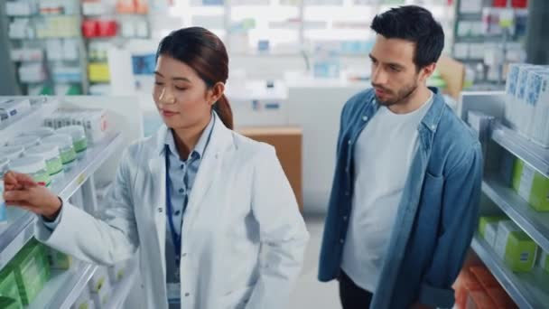 Pharmacist and Customer in Pharmacy