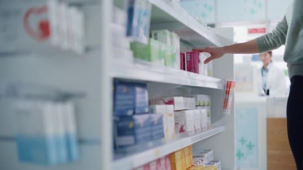 Anonymous Customer Buying Medicine in Pharmacy