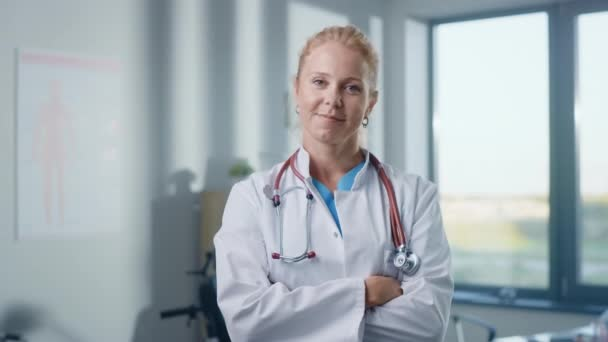 Close Up Portrait of Beautiful Female Caucasian Professional Medical Doctor