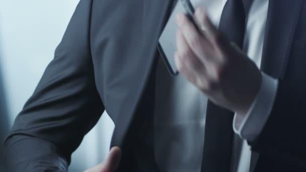 Businessman Using Phone.
