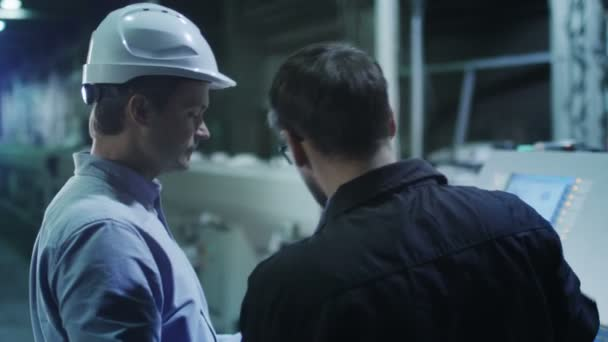 Engineer and Factory Worker Have Conversation