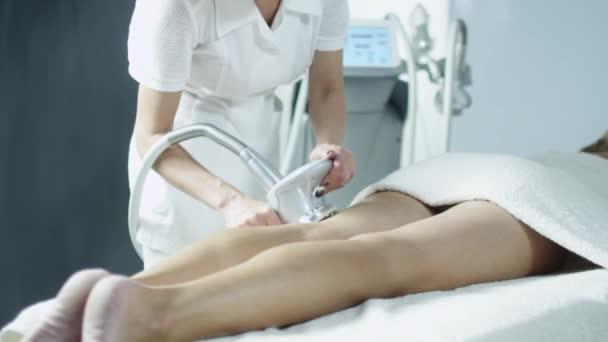 Female Leg Skin Treatment in Spa Salon