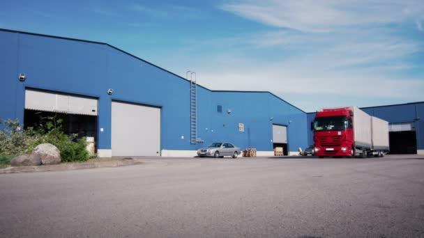 Vůz je jízda z logistického skladu
