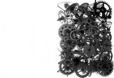 Old watch gears background