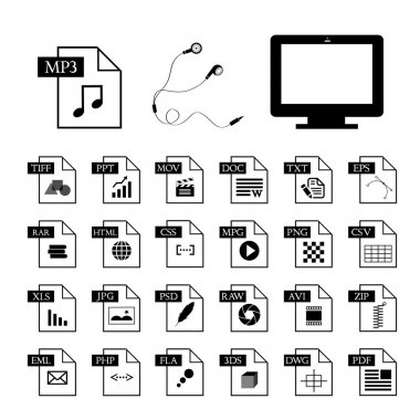 computer and file type icon