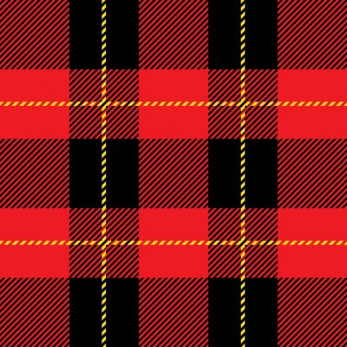 red seamless tartan plaid  pattern