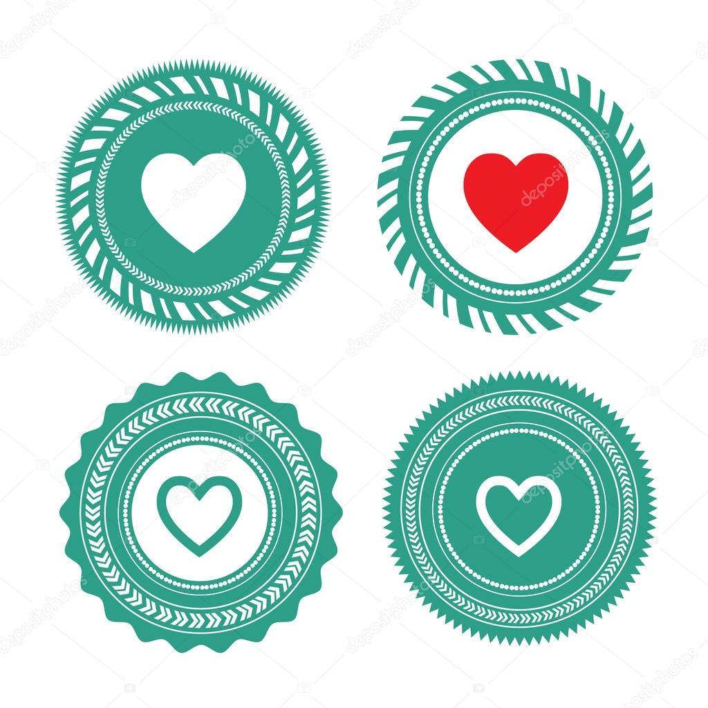 Heart Shaped Symbols Stock Vector Tackgalich 62928729