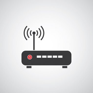 Wireless wi fi router   icon