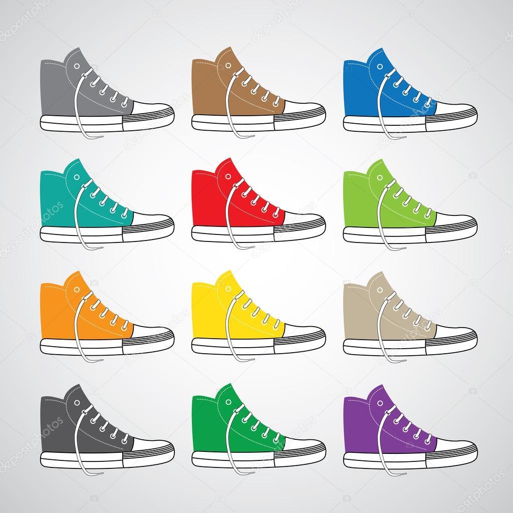 Cartoon Gumshoes Symbols Stock Vector Tackgalich 70958191