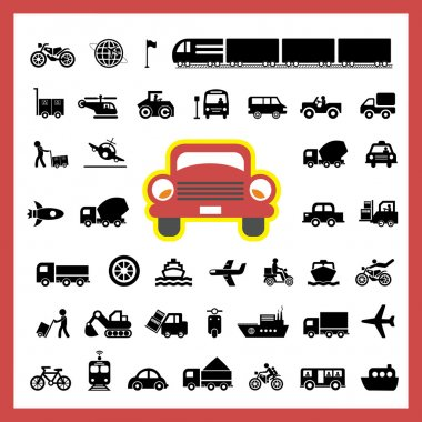 icons for transports  illustration