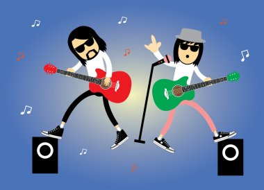rock stars musicians cartoon