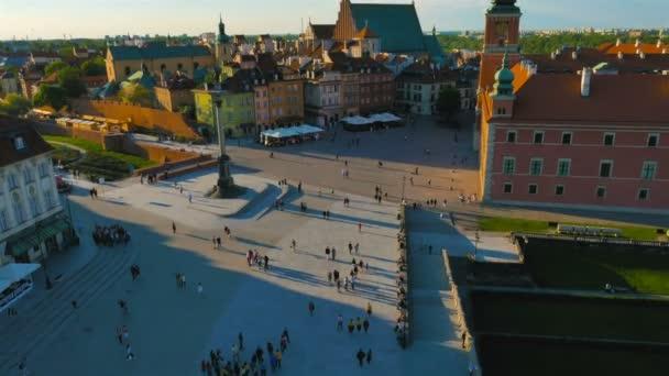 Pohled na centrum starého města ve Varšavě