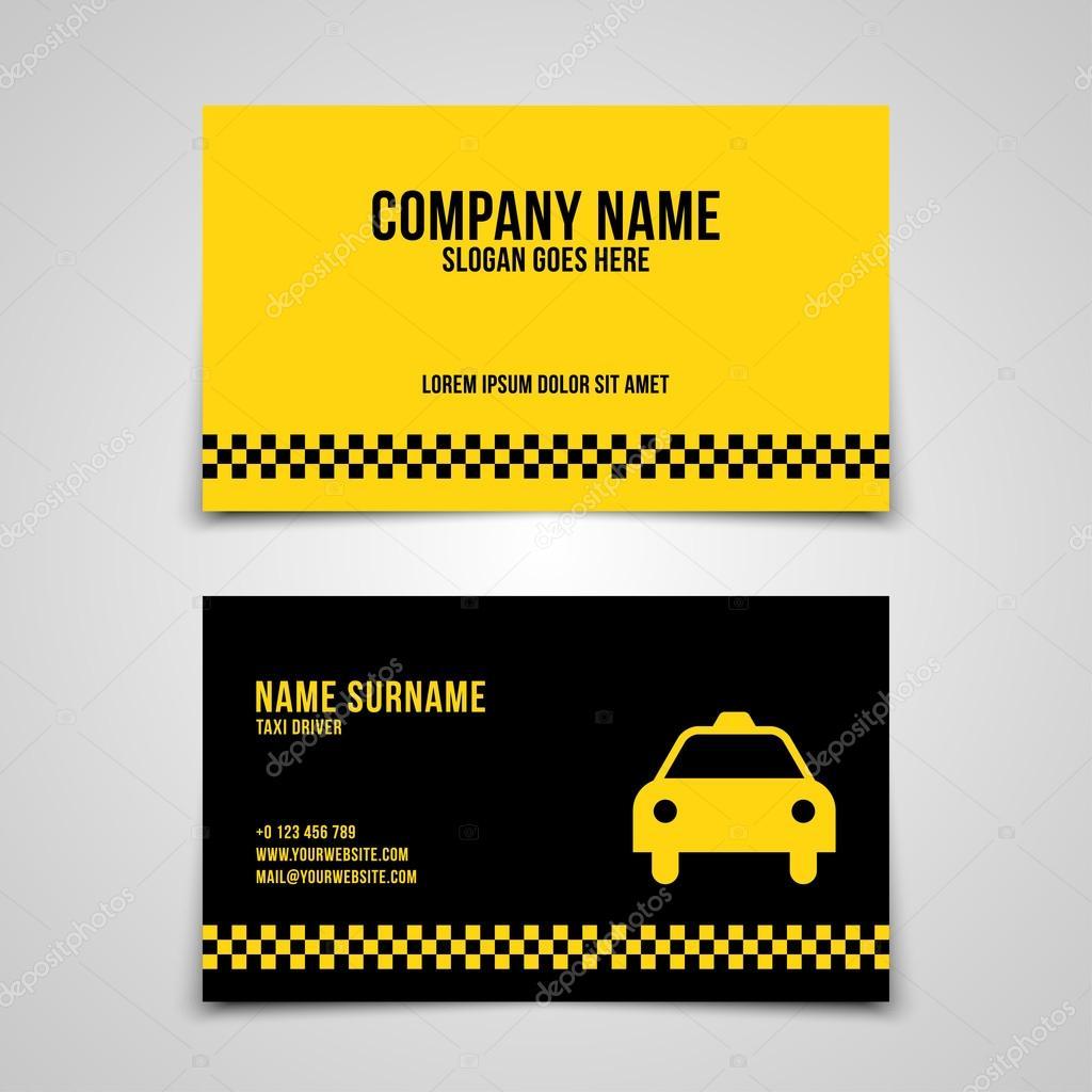 Modele De Carte Visite Taxi Illustration Stock
