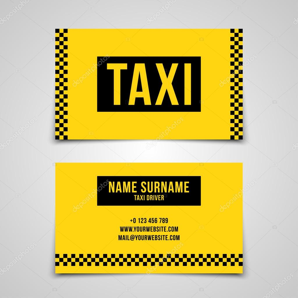 Modele De Carte Visite Taxi Illustration Stock