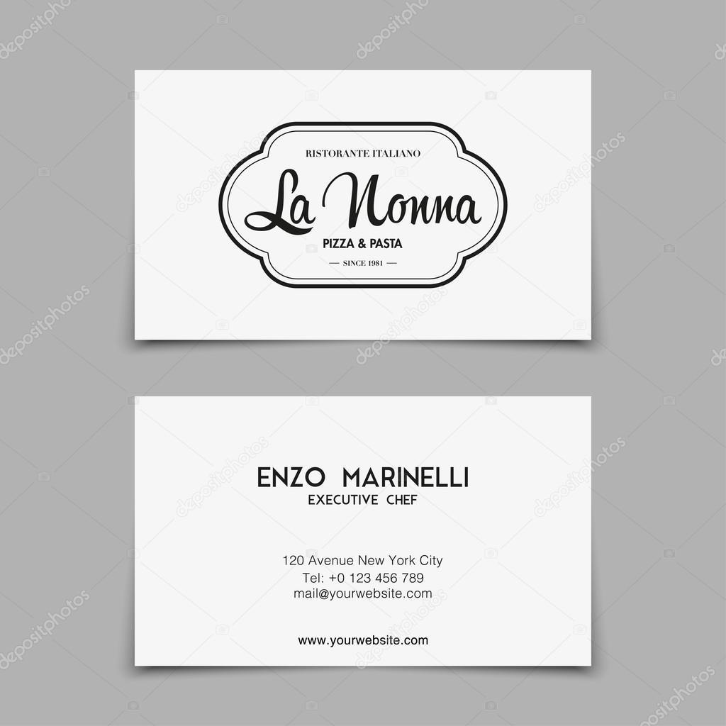 Plantillas de tarjetas de visita para restaurante — Archivo Imágenes ...