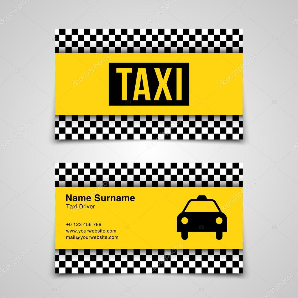 Taxi business card template — Stock Vector © mauro-fabbro #109299460