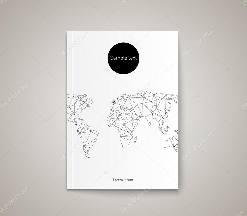 Dreieck-Welt-Karte-Vorlage — Stockvektor © mauro-fabbro #52736131