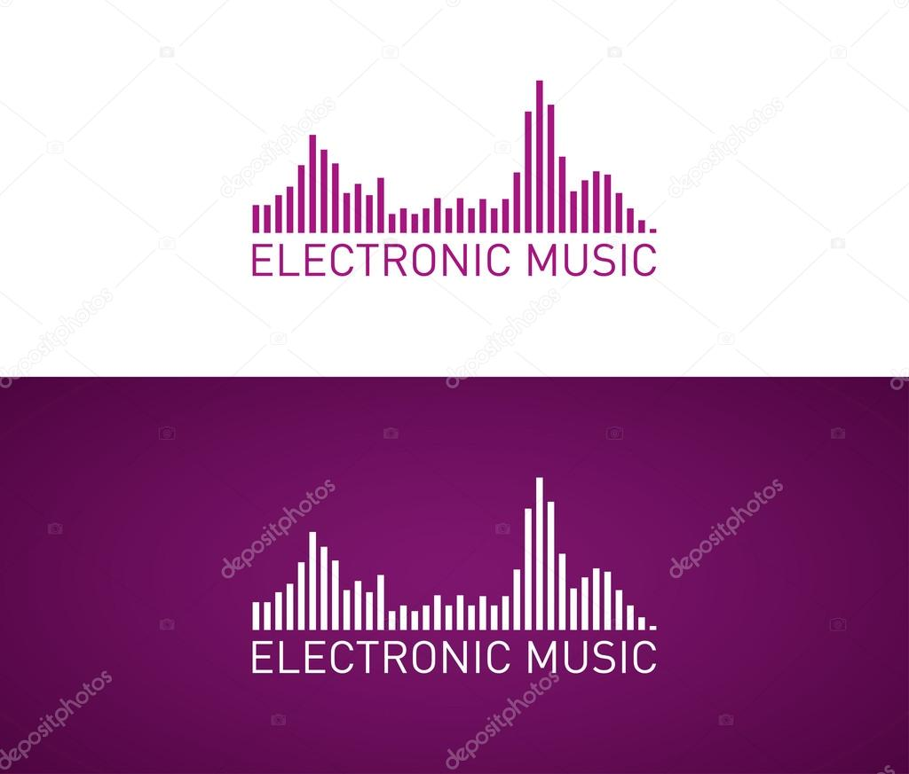 Electronic music design template — Stock Vector © mauro-fabbro ...