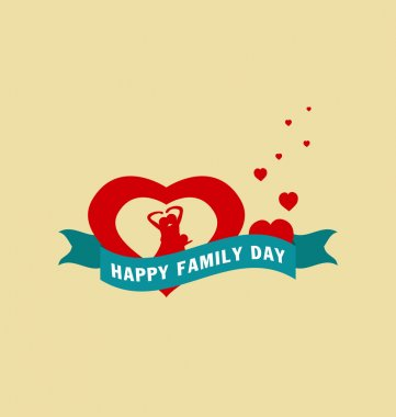 Happy family day with father and mother