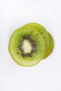 Bird eye view of stack slice kiwi fruit